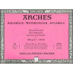 "Arches Watercolour Block Hot Pressed Pad 9"" X 12"""