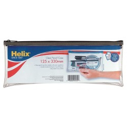 Helix 125x330mm Clear Pencil Case