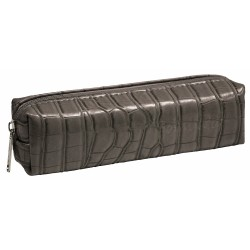 Bombata Case Cocco Artificial Leather Grey Pencil Case