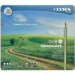 Lyra Graduate Colour Pencils Tin of 24 Assorted Colours