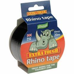 Rhino Ultratape Extra Tough Multi-Purpose Cloth Tape 50mm x 20m - Black