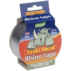 Rhino Ultratape Extra Tough Multi-Purpose Cloth Tape 50mm x 20m - Silver