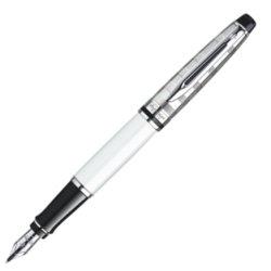 Waterman Expert DeLuxe White CT Fountain Pen Medium