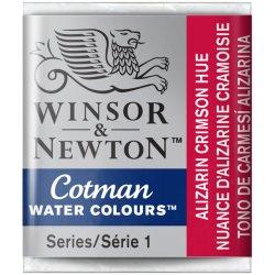 Alizarin Crimson Hue Winsor & Newton Cotman Watercolour Paint Half Pan
