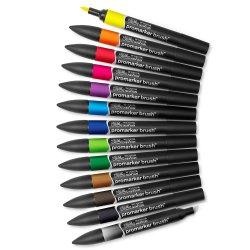 Winsor & Newton ProMarker Brush Set of 12 Vibrant Pens