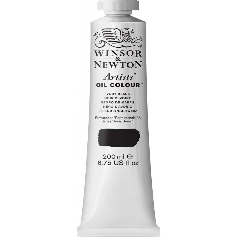 Winsor & Newton Artists' Oil Colour 200ml - Ivory Black