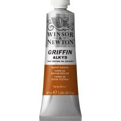 Winsor & Newton Griffin Alkyd Oil Colour Paint 37ml - Burnt Sienna