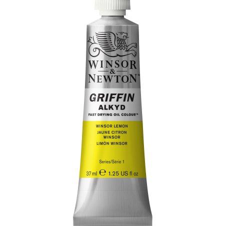 Winsor & Newton Griffin Alkyd Oil Colour Paint 37ml - Winsor Lemon