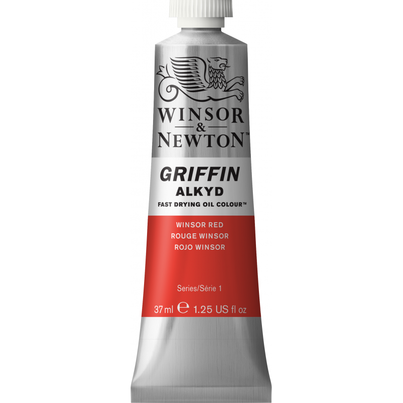 Winsor & Newton Griffin Alkyd Oil Colour Paint 37ml - Winsor Red