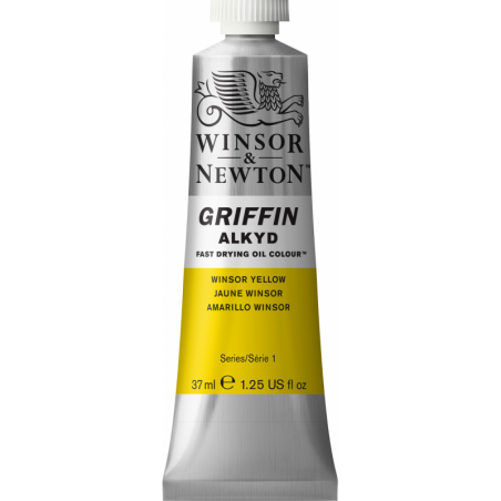 Winsor & Newton Griffin Alkyd Oil Colour Paint 37ml - Winsor Yellow