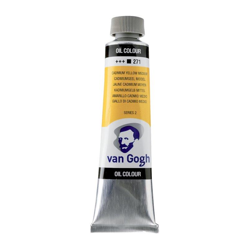 Van Gogh Oil Color 40ml tube - Cadmium Yellow Medium