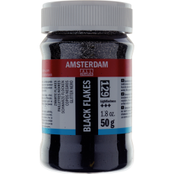 Amsterdam Acrylic Glitter Flakes 50g - Black
