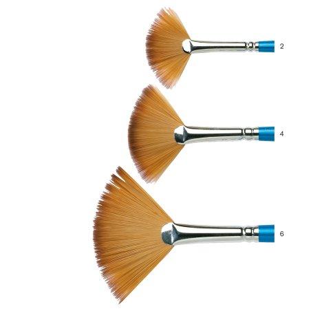 Cotman Series 888 Short Handle Fan Brushes - size chart