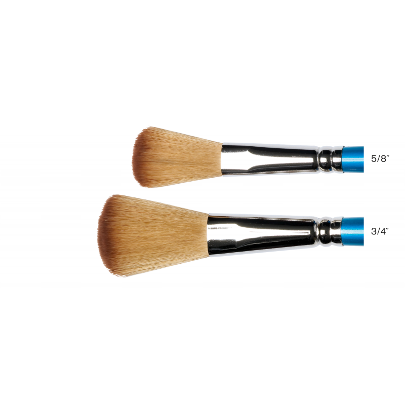 Cotman Series 999 Short Handle Mop Brushes - Size chart