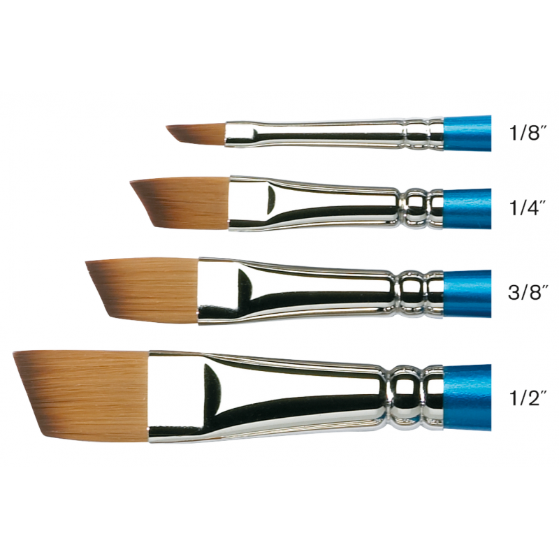 Cotman Series 667 Angled Flat Short Handle Brushes -size chart