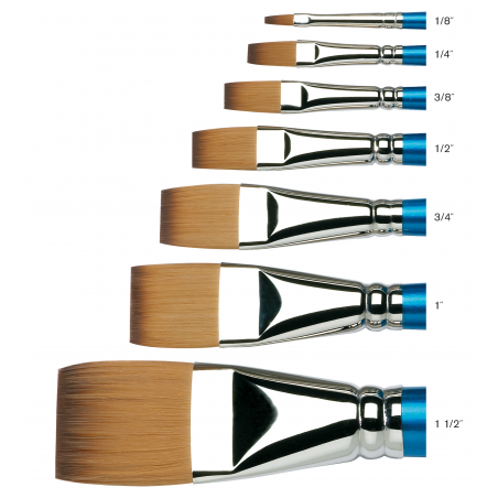 Cotman Series 666 Long Handle One Stroke Brushes - size chart