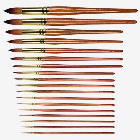 Pro Arte Prolene Plus Series 007 Short Handle Round Paint Brushes - Size