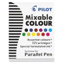 Pilot Parallel Pen Ink Cartridges 12 Assorted Colours