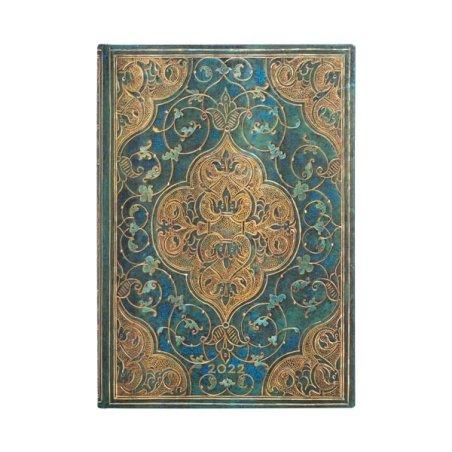 Paperblanks Turquoise Chronicles Horizontal Midi 2022 Planner