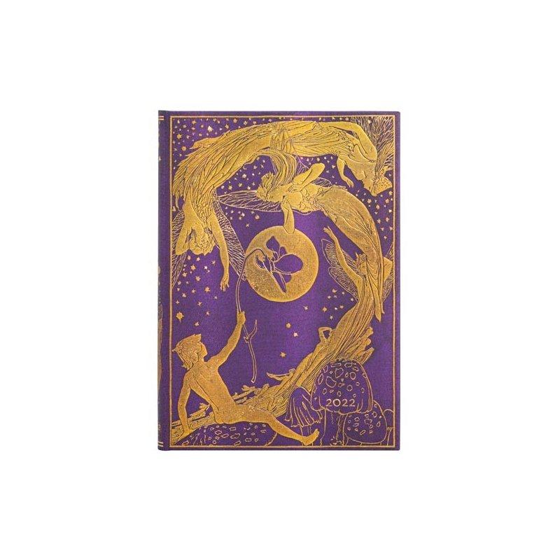 Paperblanks Violet Fairy Horizontal Midi 2022 Planner
