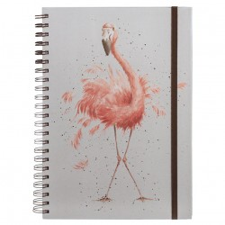 Wrendale Designs Pretty in Pink Flamingo A4 Notebook