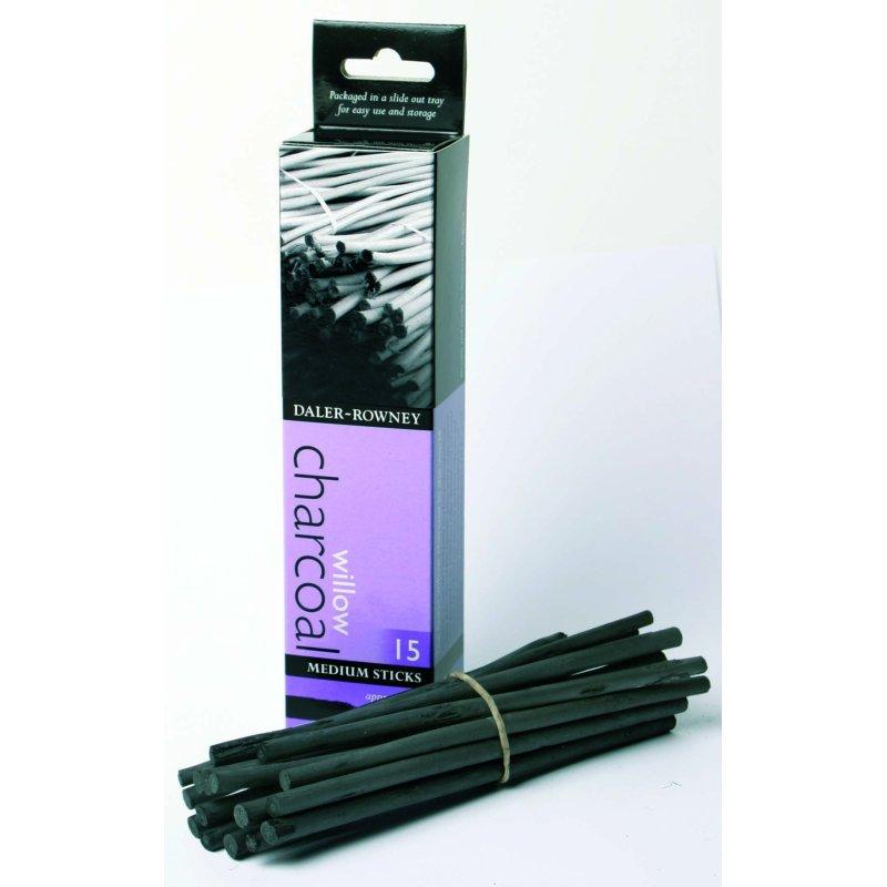 Willow Charcoal - Medium 25 Sticks